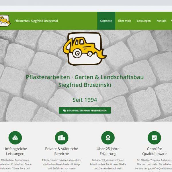 Startseite Projekt Pflasterbau
